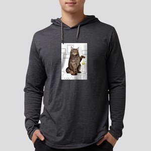 Maine Coon with line drawn Bac Long Sleeve T-Shirt
