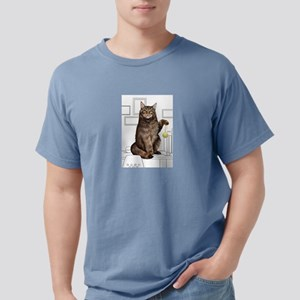Maine Coon with line drawn Background T-Shirt