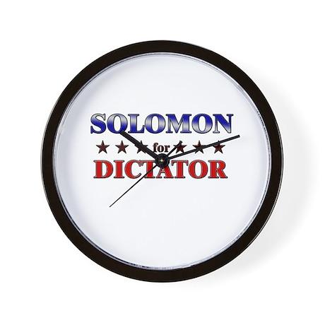 SOLOMON for dictator Wall Clock