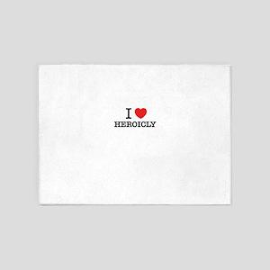 I Love HEROICLY 5'x7'Area Rug