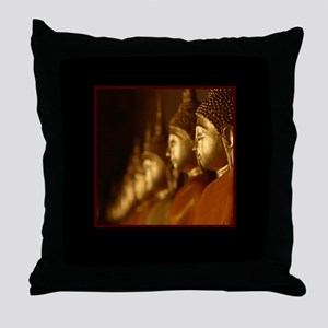 A Thousand Buddhas Throw Pillow