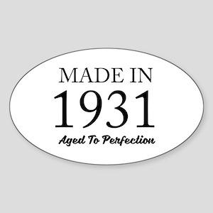 Made In 1931 Sticker