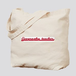 Geography teacher (sporty red Tote Bag