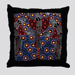AUSTRALIAN ABORIGINAL FERTILITY ART 2 Throw Pillow