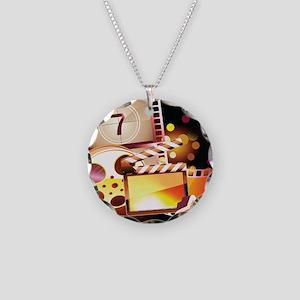 MOVIE NIGHT Necklace Circle Charm