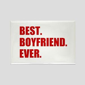 Red Best Boyfriend Ever Magnets