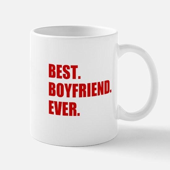 Red Best Boyfriend Ever Mugs