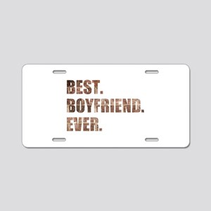 Grunge Brick Best Boyfriend Ever Aluminum License
