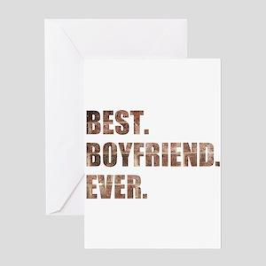 Grunge Brick Best Boyfriend Ever Greeting Cards