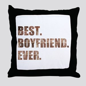 Grunge Brick Best Boyfriend Ever Throw Pillow