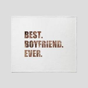 Grunge Brick Best Boyfriend Ever Throw Blanket