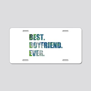 Best Boyfriend Ever Arty Grunge Aluminum License P