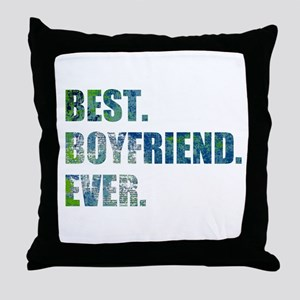 Best Boyfriend Ever Arty Grunge Throw Pillow
