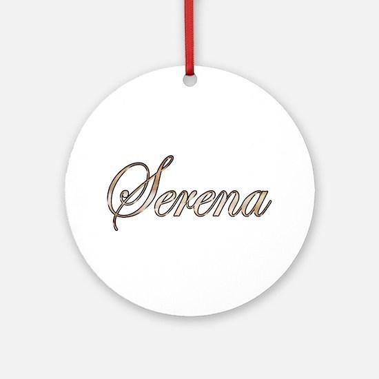 Unique Serena Round Ornament