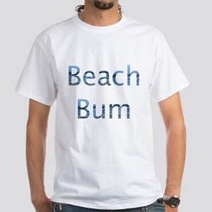 beach bum White T-Shirt