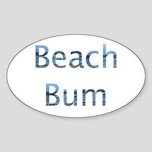 beach bum Oval Sticker