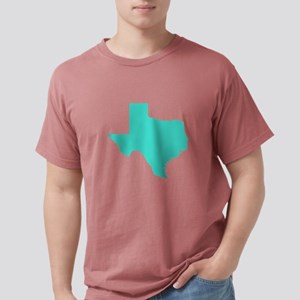 Texas Outline in Turquoise T-Shirt