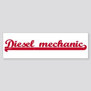 Diesel mechanic (sporty red) Bumper Sticker