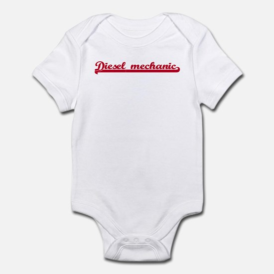 Diesel mechanic (sporty red) Infant Bodysuit