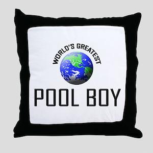 World's Greatest POOL BOY Throw Pillow
