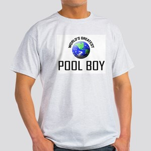 World's Greatest POOL BOY Light T-Shirt