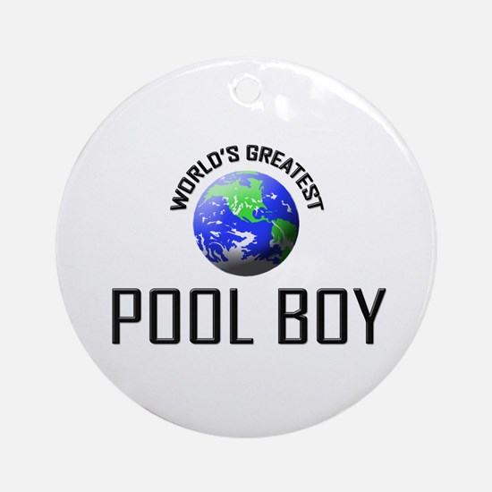 World's Greatest POOL BOY Ornament (Round)