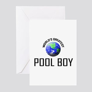 World's Greatest POOL BOY Greeting Cards (Pk of 10