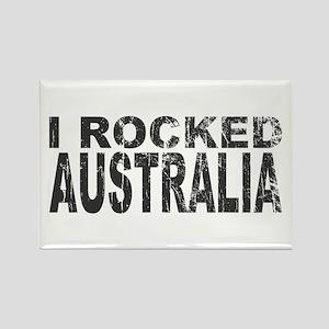 I Rocked Australia Rectangle Magnet