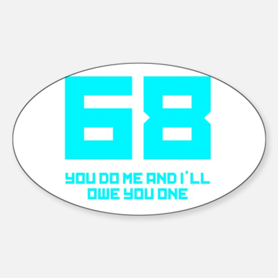 Let's 68! Oval Decal