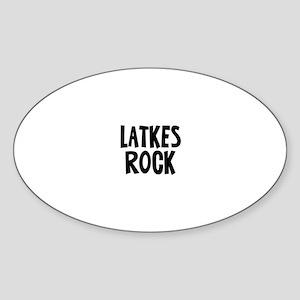 Latkes Rock Oval Sticker