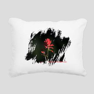 Indian Paintbrush Rectangular Canvas Pillow