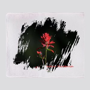 Indian Paintbrush Throw Blanket