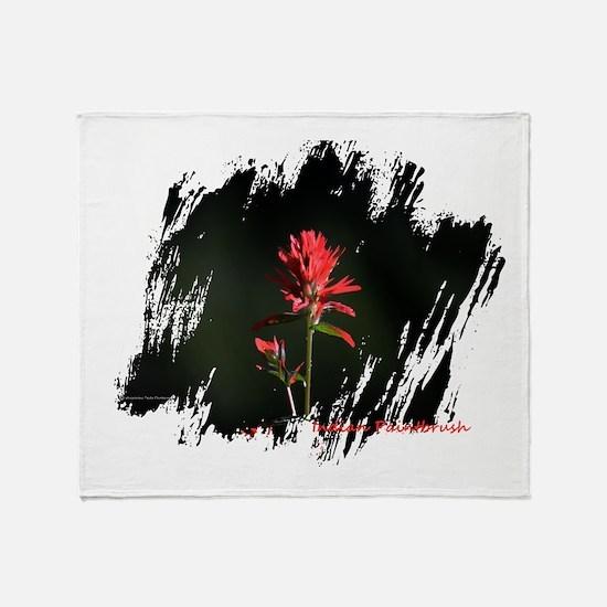 Indian Paintbrush Throw Blanket