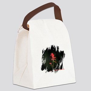 Indian Paintbrush Canvas Lunch Bag