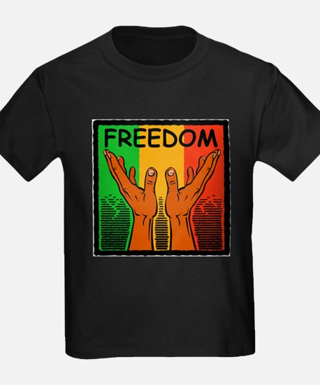 Black Freedom Ash Grey T-Shirt