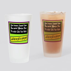 Golf-A Quiet Game Drinking Glass