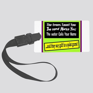 Golf-A Quiet Game Luggage Tag