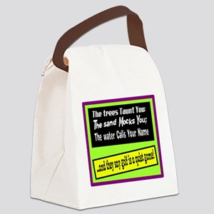 Golf-A Quiet Game Canvas Lunch Bag