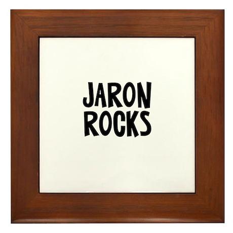 Jaron Rocks Framed Tile