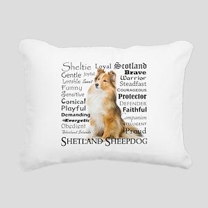 Sheltie Traits Rectangular Canvas Pillow