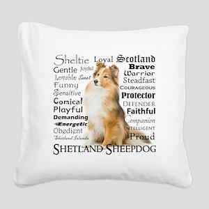 Sheltie Traits Square Canvas Pillow
