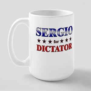 SERGIO for dictator Large Mug