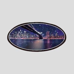 Spacey Manhattan Skyline Patch