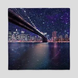 Spacey Manhattan Skyline Queen Duvet
