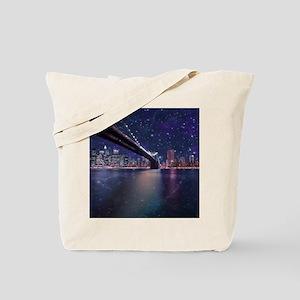 Spacey Manhattan Skyline Tote Bag