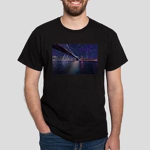 Spacey Manhattan Skyline T-Shirt