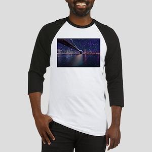 Spacey Manhattan Skyline Baseball Jersey