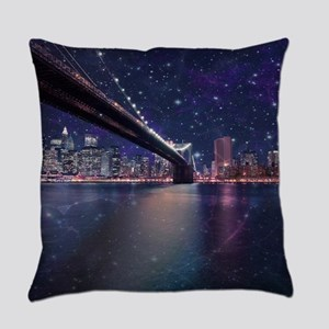 Spacey Manhattan Skyline Everyday Pillow