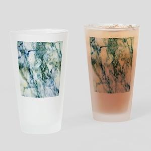 Gray & Light Blue-Green Faux Ma Drinking Glass
