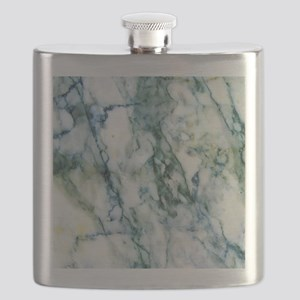 Gray & Light Blue-Green Faux Marble Flask